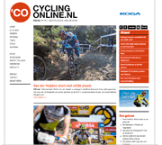 Webdesign en logo Cyclingonline