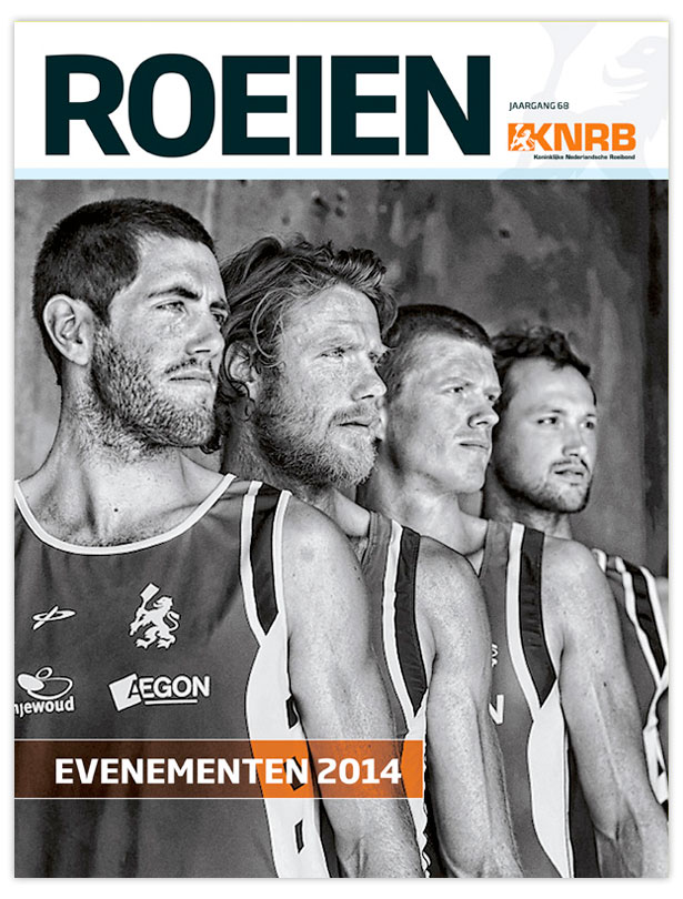 Cover Jaargids Roeien 2014 van de KNRB